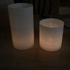Ivory Glass Candle Chimney